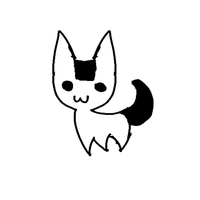 1 Point rice ball cat by TylerRaveDragon