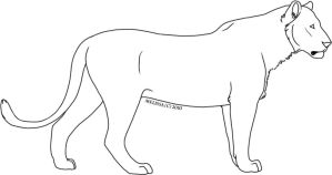 Slim Lioness Template by CreatureCreatingBabe