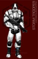 Star Wars Mass Effect Crossover Storm Trooper by rs2studios