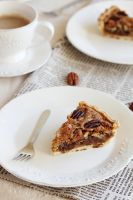 Orange chocolate pecan pie slice by kupenska
