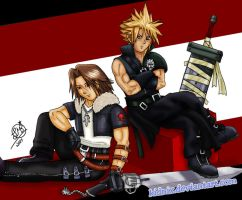 KH2: Squall and Cloud by Lukael-Art