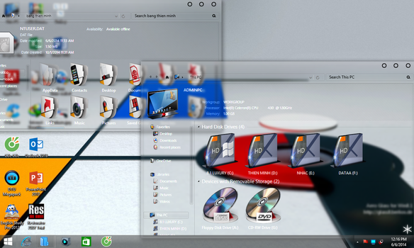Bauhaus skin pack for WIn 8 Glass by minh202020