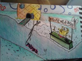 Spongebob is offering haircuts. by Chynna97