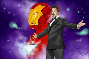 Tony Stark.Hi, I'm with you again. by maya-Notliketheother