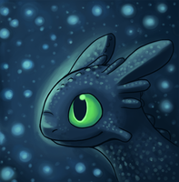 Sparkly Toothless by Pace-Eterna