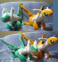 Shiny Latias and Latios (for sale, OOAK) by Rens-twin