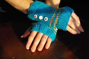 Rainbow Dash Gloves by AlleyKat666