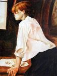 Study - The Laundress by Henri de Toulouse-Lautrec by Iyasha