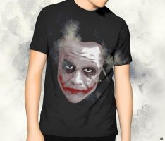 The Dark Knight Joker T-Shirt Design by Dubstrillex