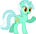 Lyra says 'Hi' by Trildar