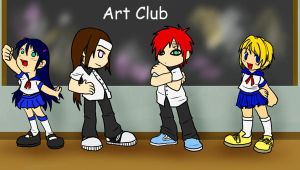 Gaia RP : Art Club colored by Kiki-Hyuga