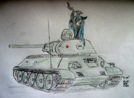 T-34 by BlueBoxDave