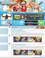 One Piece Anime WebDesign by DamageXtreme