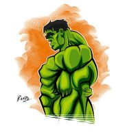 Hulk in Illustrator CS6 + Colors! by Montotus