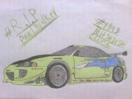 PW Tribute Drawing #1: 1995 Mitsubishi Eclipse by ShiftyGuy1994
