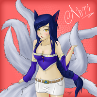 Ahri The Nine-Tailed Fox (Outside the Field) by Doujio