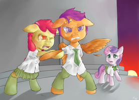 Scootaloo's Schoolyard Rumble by WandererEclipse