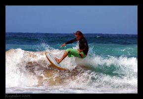Surfing In Manly by Raymaker