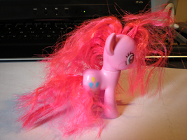 MLP Dolls- Rehaired Pinkie Pie by CatbeeCache