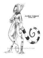 Female Archer Lizard by CottonValent