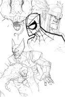 SOME MARVEL SKETCHES by COUNTPAGAN
