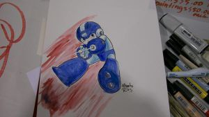 Mega man by Alberto-Rios