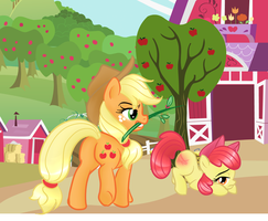 AJ and Apple Bloom by Passionateshadow