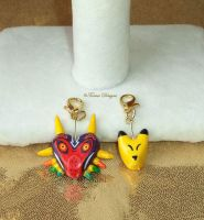 Zelda Marjora's And Keaton Mask Charms Sculpted by TorresDesigns