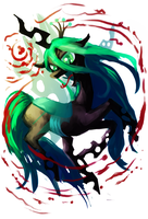 Queen Chrysalis by AmandaRaquel