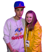 +Justin Bieber with a fan Png by LightAddiction