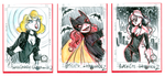 Sketchcards: Marvel, DC Gals 2 by DivaLea