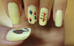 Autumn Nails by wushini
