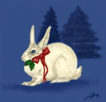 Christmas Rabbit by AravisRiona