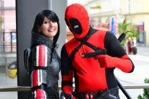 Commander Shepard meets Deadpool by Evil-Siren