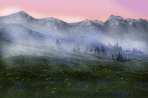 Morning in mountains by Speck--Of--Dust
