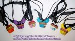 My Little Pony Cupcake Necklaces by Mighty-Morphin-Mimi