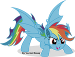 Rainbow bat by Vector-Brony