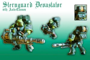 Sternguard Devastator with Auto-Cannon by Pip-Faz