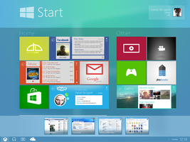Modern UI [FINAL] My Last Concept Windows 9 by danielskrzypon