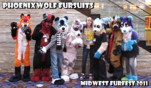 phoenix wolf fursuits at MFF by phoenixwolf33