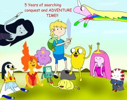 Five Years of Conquest and Adventure Time by 04StartyOnlineBC88