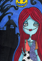 sally in the moonlight #5 by loonyclown