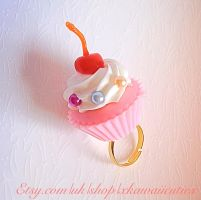 Kawaii Cupcake with a Cherry On Top, Cute Lolita by xhellojackiex