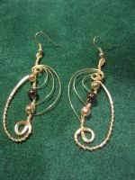 Eclipse Style - Silver Wire Wrapped Earrings by ItsAWrap