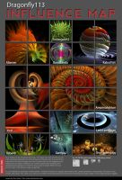 Influence Map - Dragonfly113 by Brigitte-Fredensborg