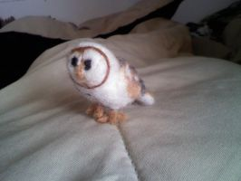Needle Felt Barn Owl by Olliefelts