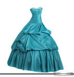Light blue strapless ball dress by Stock10