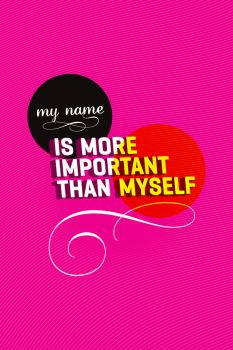 My name is more important by bashoo