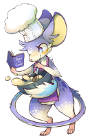 cooking mouse by Vullo