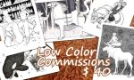 Low Color Commissions $40 by luthien368